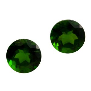 Russian Diopside Set of 2 (Rnd 6 mm) TGW 2.01 cts.