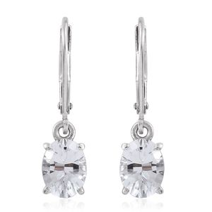 Petalite Platinum Over Sterling Silver Lever Back Earrings TGW 1.96 cts.