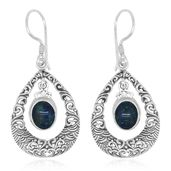 Bali Legacy Collection Australian Boulder Opal Sterling Silver Earrings TGW 2.54 cts.
