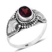 Bali Legacy Collection Mozambique Garnet Sterling Silver Ring (Size 6.0) TGW 1.40 cts.