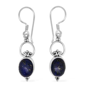 Bali Legacy Collection Lapis Lazuli Sterling Silver Earrings TGW 6.25 cts.