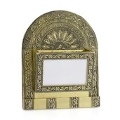 Oxidized Wall Organiser with Photo Slot in Goldtone