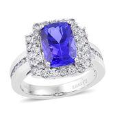 ILIANA 18K WG Premium AAA Tanzanite, Diamond Halo Ring (Size 7.0) TDiaWt 1.03 cts, TGW 4.88 cts.