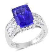 ILIANA 18K WG Premium AAA Tanzanite, Diamond Ring (Size 7.0) TDiaWt 0.58 cts, TGW 7.33 cts.