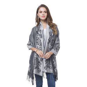 Black Baroque Pattern 100% Polyester Scarf (27.55x77.96 in)