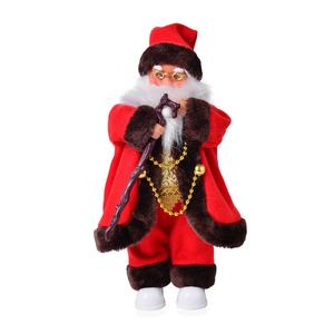 Singing Electric Walking Santa Claus Toys (6.29x13.38 in) (3xAA Batteries Not Included)