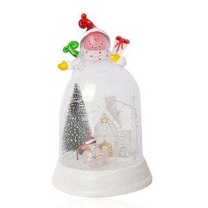 Snowman's Village with Multi Color LED Light Snowglobe (9x5 in) (3 AAA Batteries Not Included)