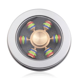 Goldtone and Stainless Steel 6 Side Fidget Spinner