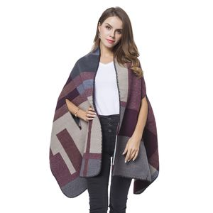 Wine Red, White and Gray Abstract Pattern Cozy Shawl Wrap