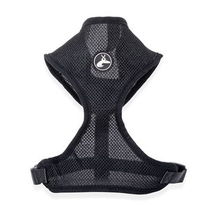 Black Adjustable Pet Harness (L) (Neck 21in x Chest 20-28.5in)