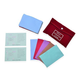 Set of 30 Multi Color Velvet Silver Polishing Cloths with Anti Tarnish Treatment