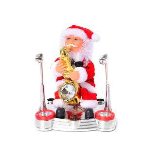 Lifestyle TLV Special Singing Electric Dancing Saxophonist Santa Claus Toy (7x6.5 in)
