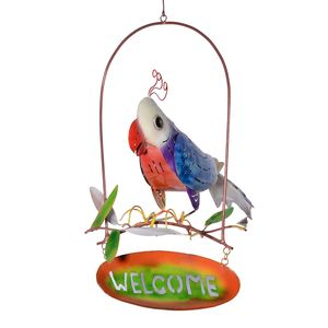 Bali Made Handcrafted Cockatoo Welcome Sign with Tea Light Holder (20x10 in)
