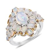 Ethiopian Welo Opal 14K YG and Platinum Over Sterling Silver Ring (Size 6.0) TGW 3.41 cts.