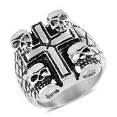 Halloween Black Oxidized Stainless Steel Ring (Size 10.0)
