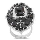 Ankur's Treasure Chest Thai Black Spinel Sterling Silver Statement Ring (Size 11.0) TGW 24.06 cts.