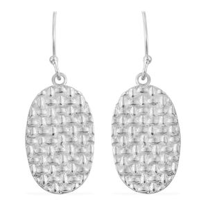 Sterling Silver Textured Earrings (5.1 g)
