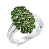 Dan's Jewelry Selections Russian Diopside Platinum Over Sterling Silver Ring (Size 5.0) TGW 2.43 cts.