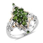 Russian Diopside 14K YG and Platinum Over Sterling Silver Ring (Size 7.0) TGW 2.29 cts.