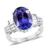 RHAPSODY 950 Platinum Premium AAA Tanzanite, Diamond Ring (Size 7.0) TDiaWt 0.93 cts, TGW 7.18 cts.