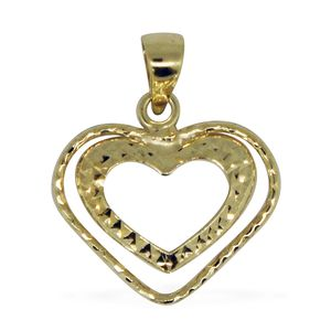 Bali Legacy Collection 10K YG Heart Pendant without Chain (0.38 g)