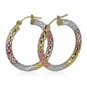 Bali Legacy Collection 10K WYRG Diamond Cut Hoop Earrings (1.87 g)