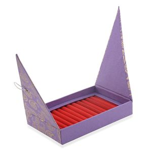 Handcrafted Purple Ring Box with Scratch Protection Interior (Approx 50 Rings) (9.5x6.5 in)