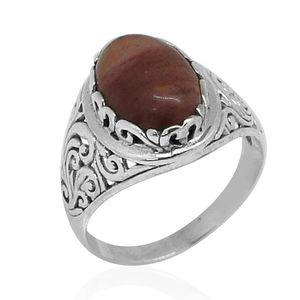 Bali Legacy Collection Kennedy Range Mookaite Sterling Silver Ring (Size 8.0) TGW 5.00 cts.