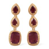 Niassa Ruby 14K YG Over Sterling Silver Earrings TGW 8.82 cts.