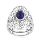 Lapis Lazuli Sterling Silver Openwork Ring (Size 9.0) TGW 2.41 cts.