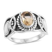 Artisan Crafted Brazilian Citrine Sterling Silver Ring (Size 9.0) TGW 1.15 cts.