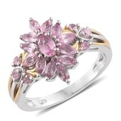Mahenge Pink Spinel 14K YG and Platinum Over Sterling Silver Ring (Size 7.0) TGW 1.74 cts.