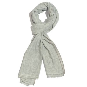 Gray 60% Wool & 40% Acrylic Blend Scarf (28x80 in)