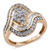 Doorbuster 14K YG White Diamond (G-H) Ring (Size 5.0) TDiaWt 1.50 cts, TGW 1.50 cts.