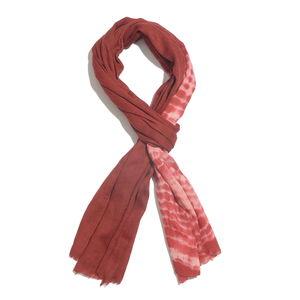 Maroon 100% Merino Wool Tie Dye Scarf (80x28 in)