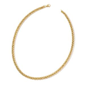 ION Plated YG Stainless Steel Rolo Necklace (24 in)