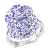Premium AAA Tanzanite Sterling Silver Ring (Size 5.0) TGW 1.90 cts.