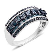 Blue Diamond Sterling Silver Ring (Size 10.5) TDiaWt 1.00 cts, TGW 1.00 cts.