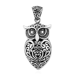Bali Legacy Collection Sterling Silver Owl Pendant without Chain (8 g)