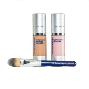 Michael Marcus 3 Pc Hydromarine Anti-Aging Foundation, Hydrmarine Liquid Dew (1 oz) (Medium/Tan)