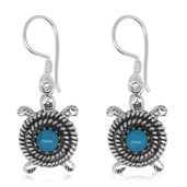 Bali Legacy Collection Arizona Sleeping Beauty Turquoise Sterling Silver Earrings TGW 0.90 cts.
