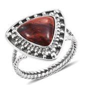 Australian Snake Skin Jasper Sterling Silver Ring (Size 10.0) TGW 4.48 cts.