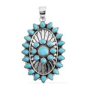 Santa Fe Style Kingman Turquoise Sterling Silver Pendant without Chain TGW 2.00 cts.