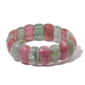 Strawberry Quartz, Green Strawberry Quartz Bracelet (Stretchable) TGW 279.00 cts.