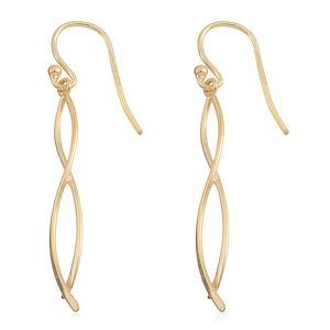 14K YG Over Sterling Silver Drop Earrings (1.4 g)