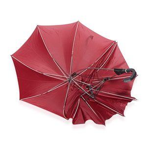 Maroon One Holder Couple's Umbrella (34.5 in)