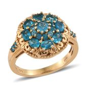 Malgache Neon Apatite 14K YG Over Sterling Silver Ring (Size 5.0) TGW 2.11 cts.