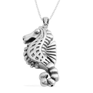 Sterling Silver Seahorse Pendant With Chain (18 in) (2.7 g)
