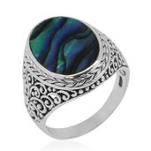 Bali Legacy Collection Abalone Shell Sterling Silver Ring (Size 10.0) 7