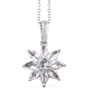 Brazilian Goshenite Platinum Over Sterling Silver Pendant With Chain (20 in) TGW 2.05 cts.